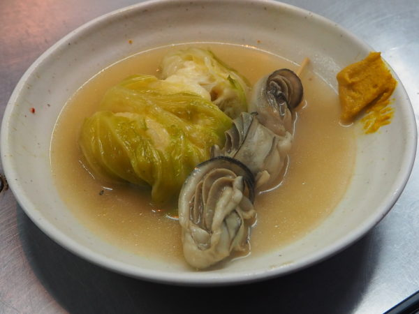 牡蛎 チーズロールキャベツ
