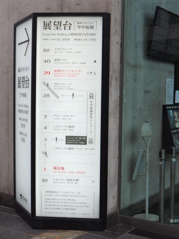 梅田スカイビル 店舗